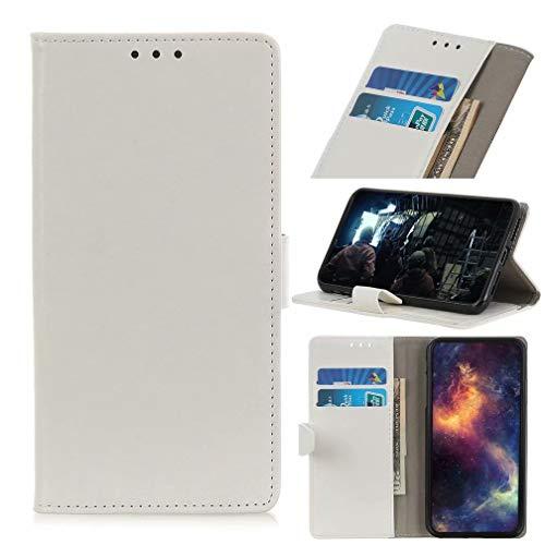 Ufgoszvp Xiaomi Mi 11 Hülle, Handyhülle für Xiaomi Mi 11, Xiaomi Mi 11 Handyhülle Magnetisch Flip Folio Stoßfest Wallet Case für Xiaomi Mi 11 Hüllen mit Ständer Weiß