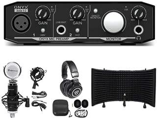 Mackie Onyx Artist 1.2 2x2 USB Recording Interface+Studio Mic+Headphones+Shield