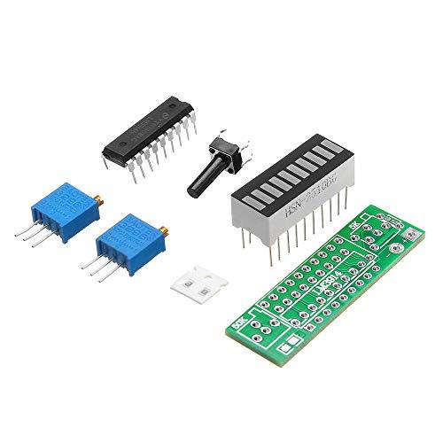 DIBAO 3 piezas rojo LM3914 módulo indicador de capacidad de batería LED Power Storey Tester Display Board