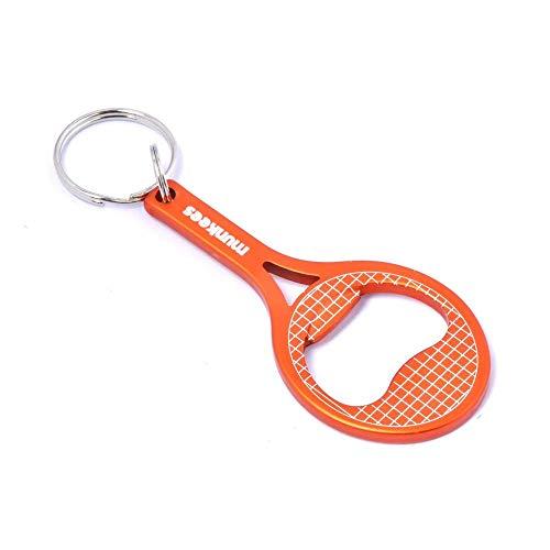 munkees Schlüsselanhänger Tennis Flaschenöffner Tennisschläger, Orange, 34053