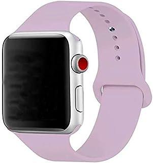 Silikon Klockarmband Apple Watch, 42/44mm, Ljuslila