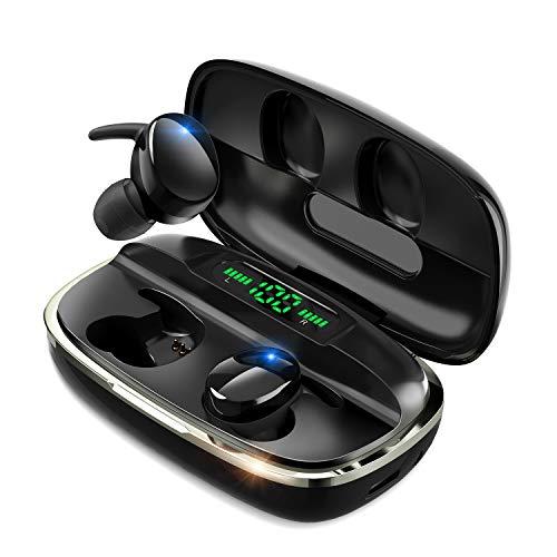 【最新Bluetooth5.1技術 瞬時接続】 Bluetooth イヤホン Hi-Fi高音質 蓋を開けたら接続 自動ペアリング 4000mAh充電ケース付き 最大680時間待ち受け LEDデジタル残量表示 完全ワイヤレス イヤホン 3Dステレオサウンド CVC8.0ノイズキャンセリング AAC対応 IPX7防水 左右分離型 ブルートゥース イヤホン マイク内蔵 音量調整 ハンズフリー通話 技適認証済 父の日 プレゼント ギフト
