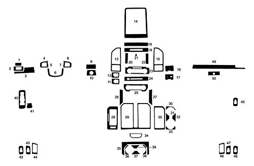 Rvinyl Rdash Dash Kit Decal Trim for Ford F-150 2015-2020 - Carbon Fiber 4D (Black) Carbon Fiber Interior Trim Applique
