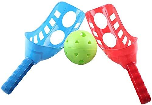 Juego de pelotas de plástico para pesca de trackball Sport lacrosse, juego para niños y adultos, color azul y rojo