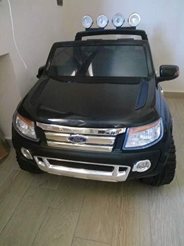 Ford Ranger Wildtrak, Macchina Elettrica per Bambini, Toy Car, 2 motori, Bluetooth Telecomando 2,4 GHz, a due posti, rosso, USB, SD card, licenza originale Ford