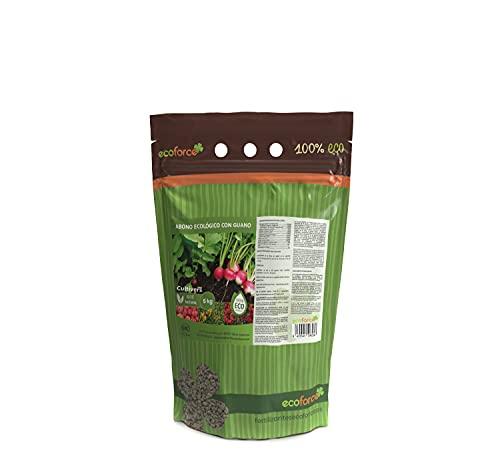CULTIVERS Abono Ecológico con Guano de 5 kg. Fertilizante Universal de Origen 100% Orgánico y...