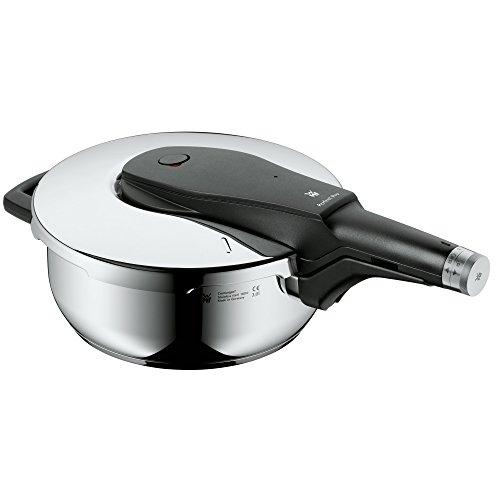 WMF Perfect Pro Schnellkochtopf, 3,0l, Schnelltopf 22 cm, Cromargan Edelstahl poliert, Induktion, 2 Kochstufen, All-In-One Drehknopf