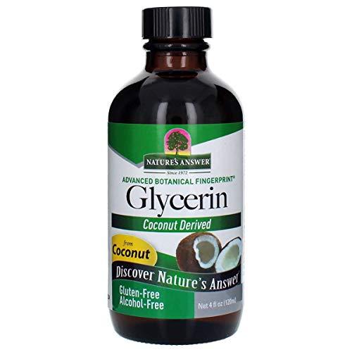 Nature's Answer Glycérine végétale - Pure à 96% - Sans alcool - 120 ml