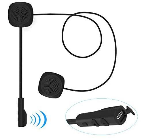 Winnes 9A04060 universele hoofdtelefoon, met microfoon, handsfree, muziek, call control, helm, motorfiets, scooter, draadloos, Bluetooth 5.0 handsfree
