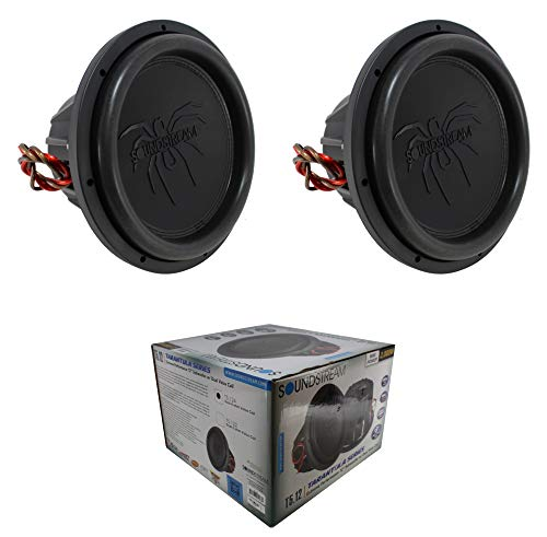 2 x T5.124 12' 4000W Subwoofer Dual 4-ohm Voice Coil Pro Car Audio Bass