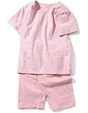 KISBINI子供服 パジャマ 男の子 部屋着 女の子 ルームウェア 上下セット 綿 半袖Tシャツ+半ズボン/ハーフパンツ2点 ジュニア 寝巻き 普段着 夏服 100 110 120 130 140 150 160