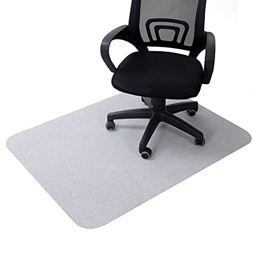 """Office Chair Mat for Hardwood Floors 35 x 47 inch, """"Vacuum TECH"""" - Non Slip Computer Desk Mat for Rolling Chairs, Gaming Chairs(Light Gray)"""