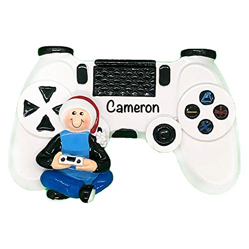 Personalized Christmas Ornaments for Hobbies and Activities – Charming Custom Video Game Controller Gamer Christmas Ornament 2020 – Durable, Premium Polyresin Ornament & Decor Christmas Tree Ornaments