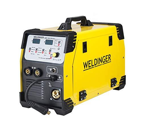WELDINGER synergischer Schweißinverter MEW 250 SYN Alu MIG-Aluminiumschweißen (250 A MIG/MAG WIG Elektrode MMA)