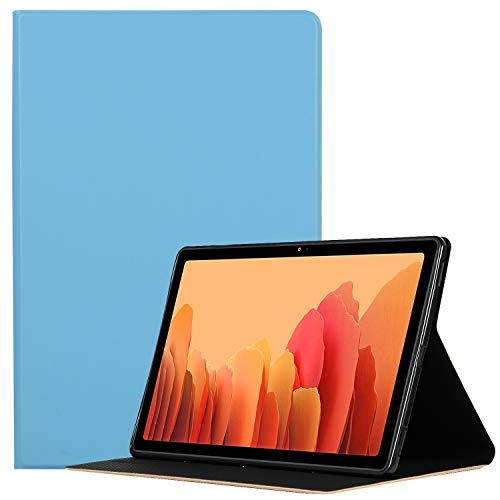 Hfly Compatible with Samsung Galaxy Tab A7 10.4 (2020) Case SM-T500/ T505, Premium PU Leather & Soft TPU Back Cover Fold Stand Shockproof Tablet Case for Galaxy Tab A7 10.4 (2020) [SkyBlue]