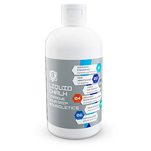 Boundletics Liquid Chalk - 250 ml Flüssigkreide - Magnesia für besseren Grip - Flüssig Kreide für Pole Dance, Cross Fit, Klettern & mehr