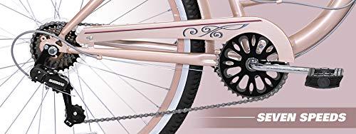 "41Wo8eAYbaL. SL500 Kent 26"" Bayside Women's Cruiser Bike, Rose Gold"