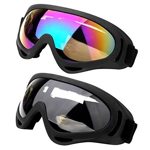 FGGTMO Evitar Que se Raye Gafas de esquí, Hombres Mujeres Gran máscara de esquí UV400 Gafas de protección, for Esquiar en Invierno la Nieve Snowboard Gafas, for el esquí/Snowboard (Color : C)