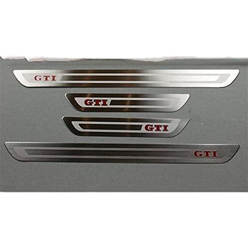 4 Stück Auto Edelstahl Einstiegsleisten Einstiegsleistenschutz Abnutzungsplatte Türschweller Dekorations Protector Zubehör, für VW Golf 6 7 Mk6 Mk7 GTI 5door 2009-2018