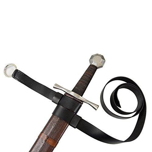 Armorvenue: Double Strap Hanging Sword Belt Black