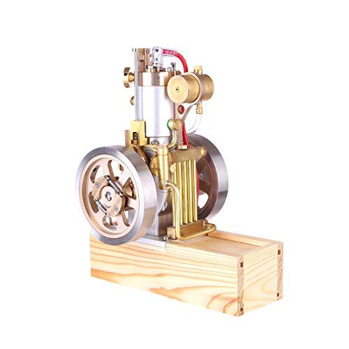 Yamix Stirling Engine Motor Metal Vertical Hit and Miss Engine Model Gas Stirling Engine with Hand Start Device