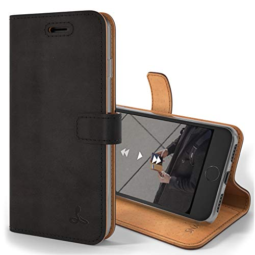 iPhone 7 Case, Snakehive Genuine Leather Wallet with Viewing Stand and Card Slots, Flip Cover Gift Boxed and Handmade in Europe by Snakehive for iPhone 7 - Brown