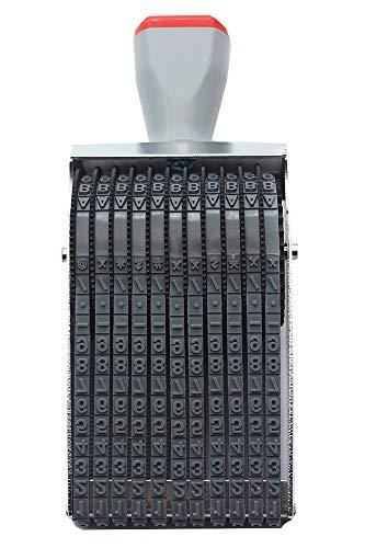 Sello de fecha Sello de rodillo de 11 dígitos Símbolo de número de alfabeto inglés personalizado Sello de rueda rodante Papelería de rodillo de Scrapbooking DIY multifunción