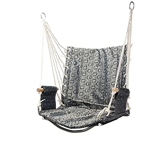 LYLY Columpio hamaca silla colgante para colgar cuerda interior exterior, patio de juegos y patio trasero silla oscilante (color : D)