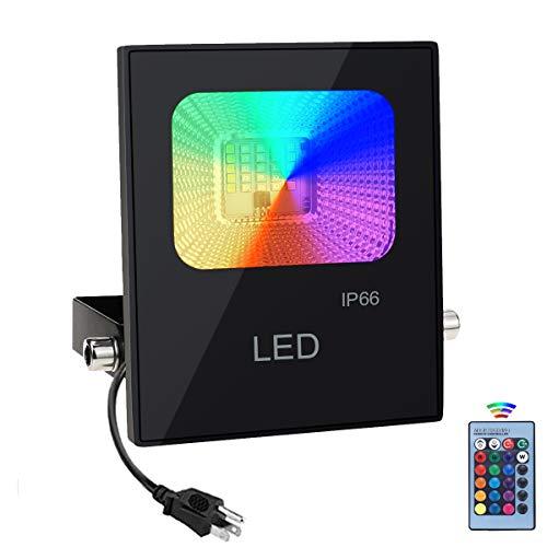 60W RGB Foco LED con Control Remoto, Foco Proyector Exteriores Interior IP67...