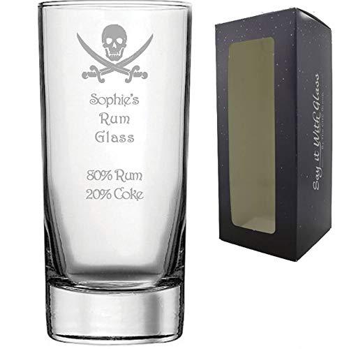 Ron - Copa de cristal personalizable con grabado de alta calidad, rega