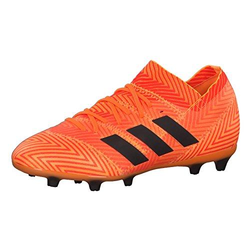 Adidas Nemeziz 18.1 FG J, Botas de fútbol Unisex Adulto, Naranja (Mandar/Negbás/Rojsol 000), 38 2/3 EU