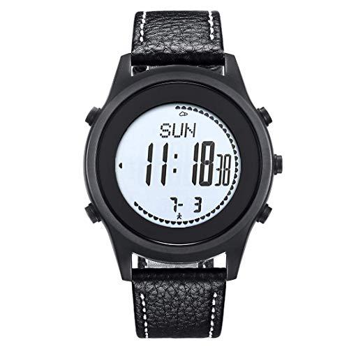 Al Aire Libre del Alpinismo Reloj de múltiples Funciones altitud barométrica Brújula Inteligente Reloj podómetro 50m Impermeable, Ultra-Fina, C fengong (Color : B)
