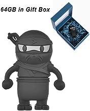 Cute USB Flash Drive 64GB, Aretop USB2.0 Cute Cartoon Miniature Ninja Shape USB Memory Stick Pendrive for Computer 64GB Thumb Drive USB Jump Drive Data Storage Business Gift for Kids Present