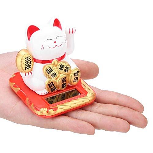 Chat Chinois Porte Bonheur, Lucky Cat Maneki Neko Solar Alim