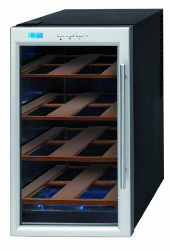 Krups JC 101810 Wijnkoelkast met houten planken, staal/zwart