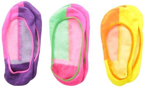 Jefferies Socks Mädchen Split Footie Socken (3er Pack) - mehrfarbig - Large