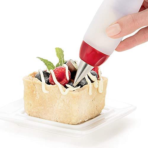 Vektenxi Kreative Silikon-Zuckerguss verzieren Spritze Creme Platte Stift Backen Werkzeuge geeignet für Kuchen Cookie Schokolade