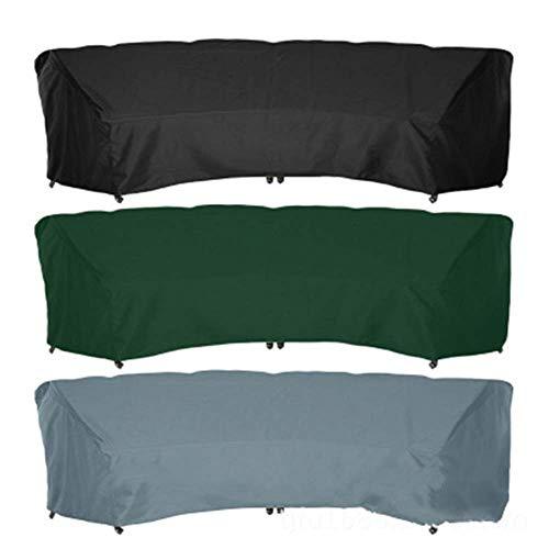 Muebles de jardín al aire libre de la cubierta cubierta de la lluvia Patio curvado sofá cubierta, al aire libre seccional cubierta Muebles, Silla clásica entre los accesorios de la cubierta Ocio, secc