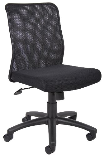Boss Office Products Budget Mesh Task Chair without Arms in Black