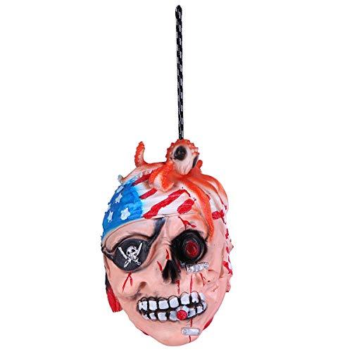 Balacoo Gruselige gebrochene menschliche Körperteile Realistische Prothese für Halloween (Octopus Head) Halloween Kostümdekoration