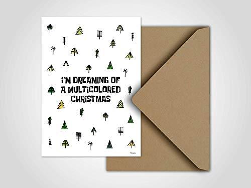 Tannenbaum — Weihnachtskarte, Grußkarten, Karten, Weihnachten, Schnee, Handschuh, Schneeball, Winter, Tannen, Advent, Weihnachtsgeschenk