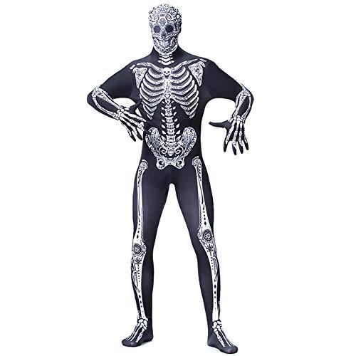People-COS1 Disfraz De Cosplay De Halloween Unisex Disfraz De Calavera Esqueleto De Calavera Disfraz De Temática De Terror Adulto Disfraz,M