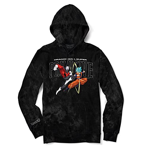 Primitive x Dragon Ball Super Men's Collegiate Fight Washed Long Sleeve Hoodie Black S