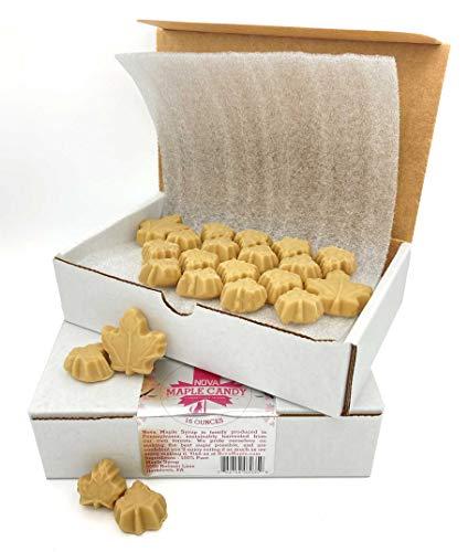 Nova Maple Candy - Pure Maple Sugar Leaf Candy (16 Ounces (1 Pound))