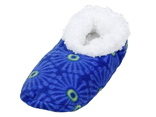 Alsino Snoozies Hausschuhe Puschen Schuhe kuschelig bunt Damenhausschuhe 02/6009 blau; 38-39