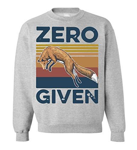 Zero Given Fox Unisex Sweatshirt Sweater Pullover Small