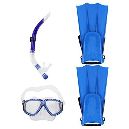 DAUERHAFT El Tubo de respiración de Buceo Mejora la Velocidad, para Principiantes(Blue, 5 to 15 Years Old)