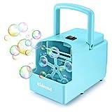 KidoMe Macchina per Bolle, Bubble Maker Professionale Macchina Crea Bolle Alimentata sia a Presa che a Batterie, per Esterno e Interno Alto Rendimento