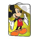 Funda para ordenador portátil de Mickey Mouse y Minnie Mouse compatible con ordenador de 13/14/15.6 pulgadas, funda multifuncional para ordenador portátil, impermeable, con asa y bolsillo.