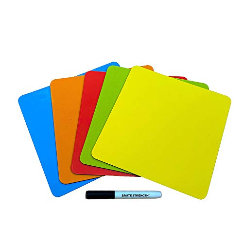 25 Beschreibbare Magnete 7,5 x 7,5 cm mit Whiteboard marker für Scrum, Agile, Kanban oder Lean - Mix - 5 Farben